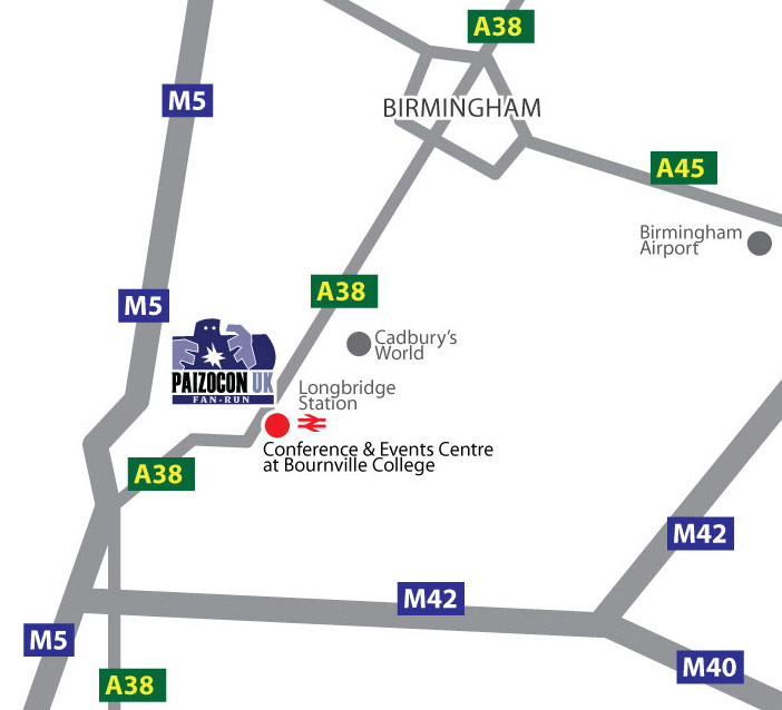 Bournville location map