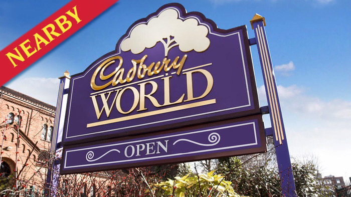 Cadbury's World nearby