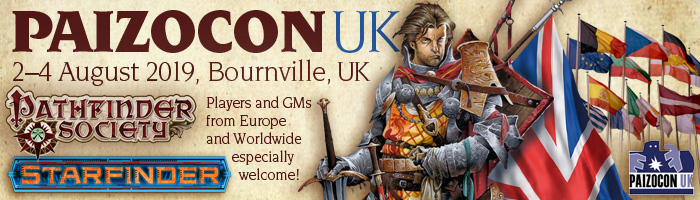 PaizoCon UK 2019